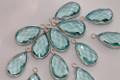 Aquamarine Blue Quartz Faceted Pear Bezel Gemstone Sterling Silver Pendant