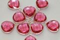 Pink Quartz Faceted Heart Bezel Gemstone Sterling Silver Pendant