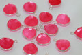 Hot Pink Chalcedony Faceted Heart Bezel Gemstone Sterling Silver Pendant