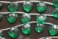 Emerald Green Quartz Carved Heart Shaped Leaf Briolettes