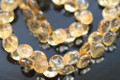 Golden Citrine Faceted Onion Briolettes
