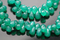 Emerald Green Onyx Faceted Tear Drop Briolettes