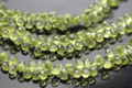 Peridot Faceted Tear Drop Briolettes