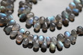 Blue Fire Labradorite Smooth Tear Drop Briolettes