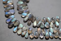 Blue Fire Labradorite Smooth Pear Briolettes