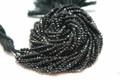 Black Spinel Faceted Rondelles