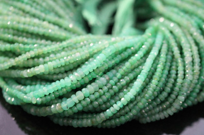 Chrysoprase Faceted Rondelles