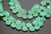 Chrysoprase Green Chalcedony Smooth Heart Briolettes