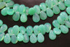 Chrysoprase Green Chalcedony Smooth Pear Briolettes