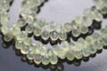 Prehnite Faceted Tear Drop Briolettes