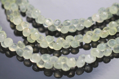 Prehnite Faceted Onion Briolettes