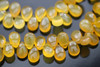 Yellow Chalcedony Smooth Pear Briolettes