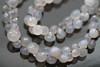 Grey Chalcedony Faceted Onion Briolettes
