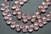 Pink Mystic Quartz Faceted Heart Briolettes
