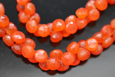 Carnelian Faceted Onion Briolettes