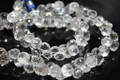 Clear Rock Crystal Faceted Onion Briolettes