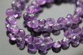 Purple Amethyst Faceted Onion Briolettes