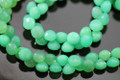 Chrysoprase Green Chalcedony Faceted Onion Briolettes
