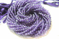 Purple Amethyst Faceted Rounds, 4 mm
