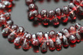 Red Garnet Faceted Tear Drop Briolettes