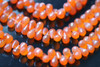 Orange Carnelian Faceted Tear Drops Briolettes