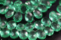 Emerald Green Quartz Faceted Pear Briolettes