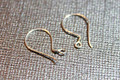 Bali Sterling Silver Classic French Hook Earwires with Coil, 21 gauge, 16 x 10 mm, 1 pair
