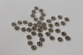 Artisan Sterling Silver Antique Finish Daisy Spacers, 4.2 x 1 mm, 50 pieces