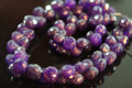 Purple Mystic Chaelcedony Faceted Onion Briolettes, 7 - 8 mm