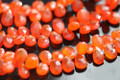 Carnelian Faceted Pear Briolettes