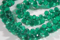 Emerald Green Quartz Faceted Tear Drop Briolettes