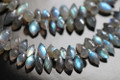 Labradorite Faceted Dew Drop Briolettes