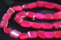 Hot Pink Chalcedony Faceted Nuggets