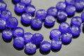 Deep Blue Chalcedony Faceted Heart Briolettes