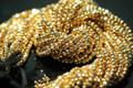 Gold Pyrite Faceted Rondelles, 3.5 - 4 mm