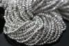 Silver Pyrite Faceted Rondelles
