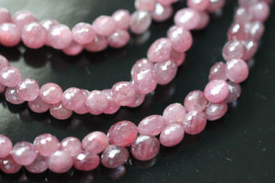 Pink Sapphire Faceted Onion Briolettes