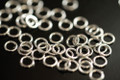 925 Sterling Silver Closed Jump Rings, 4 x 0.7 mm