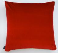Heritage Velvet Cushion - Peony Red - 50 x 50cm