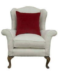 The perfect antique chair in cream linen/cotton mix (#2)