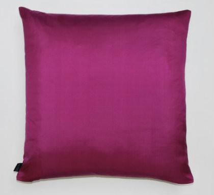 Plain Silk Cushion - Dark Purple