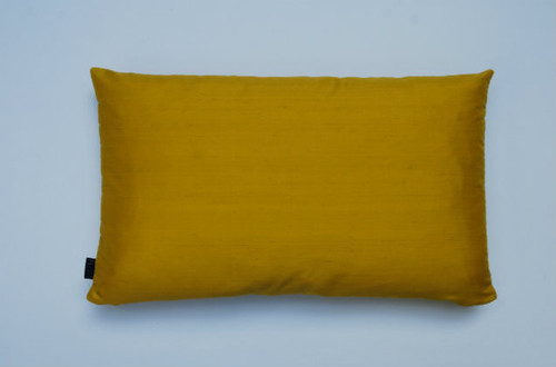 Plain Silk Cushion - Yellow