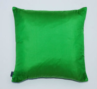 Plain Silk Cushion - Bright Green