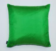 Plain Silk Cushion - Bright Green