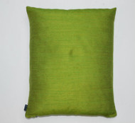 Slubby Silk Cushion - Green