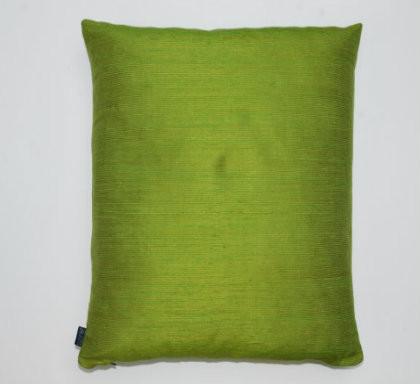 Slubby Silk Cushion - Green
