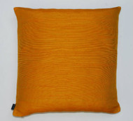 Slubby Silk Cushion - Orange