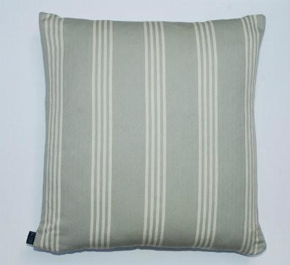 Wide Stripe Ticking Cushion - Duck Egg Blue - 50cm x 50cm