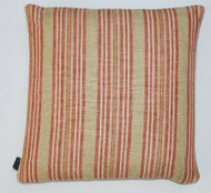 Multi Stripe Ticking Cushion - Red & Cream - 50cm x 50cm