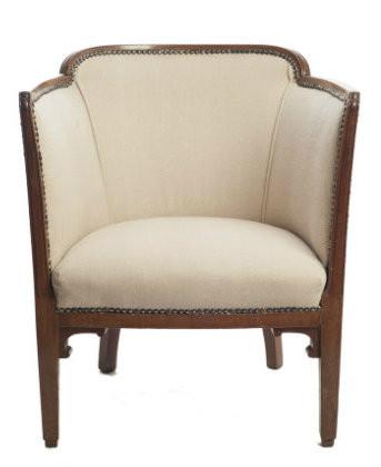 The Absolute Must Have Tub Chair In Cream Herringbone